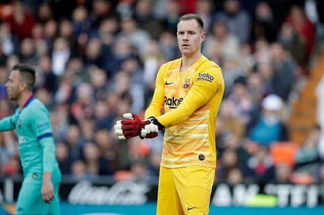 تير شتيجن بحدد أهدافه مع برشلونة قبل تمديد التعاقد