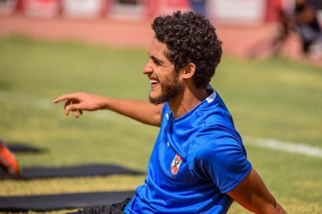 أحمد الشيخ فى مران الأهلى