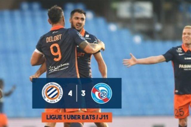 مونبلييه يواصل مزاحمته لموناكو على وصافة الدوري الفرنسي