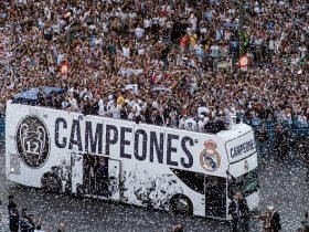 احتفال جماهبير ريال مدريد الاسباني ببطولة دوري ابطال اوروبا