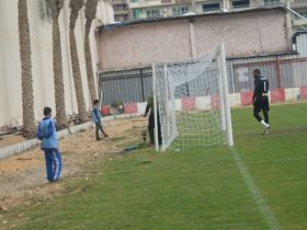 رشاش مياه يتسبب في تأخر انطلاق مباراة بلدية المحلة وكفر الشيخ