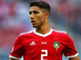 الدولي المغربي أشرف حكيمي نجم ريال مدريد الإسباني