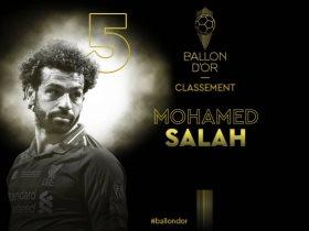 محمد صلاح خامس الكرة الذهبية