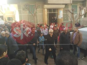 تشييع جثمان شقيقة مرتضي منصور رئيس الزمالك فى مسقط رأسها بميت غمر