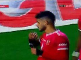 احمد الشيخ يحتفل بهدفه فى مباراة الأهلي ضد الاتحاد السكندري