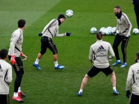 تدريب ريال مدريد الاسباني تصوير : رويترز