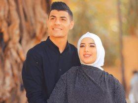 عبد الرحمن مجدى وزوجته
