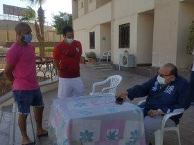 جلسة محمد عادل مع لاعبي المقاولون
