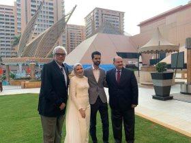 احمد ناجي يحتفل بخطبة نجله