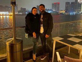 أحمد فتحى وزوجته