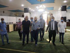 مرتضى منصور يتفقد مسجد طبيب الغلابة
